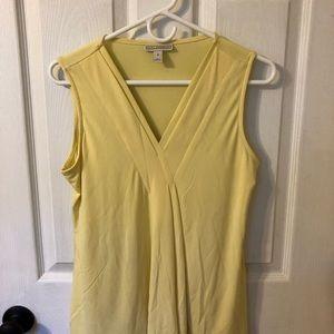 Dana Buchman butter yellow liquid knit top
